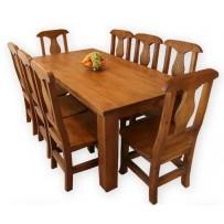 Jedálenská súprava, stôl 140 x 80, stolička z masívu 6 ks