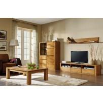 Obývačka z masívu (dub masív, farba orech, alebo olej )