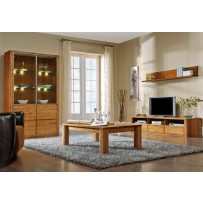 Moderná obývacia stena z dreva (farba orech)