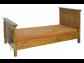 Rustikalna posteľ - hnedá