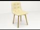 Kožená jedálenská stolička Leonard, CREAM