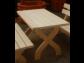 Drevený záhradný stôl